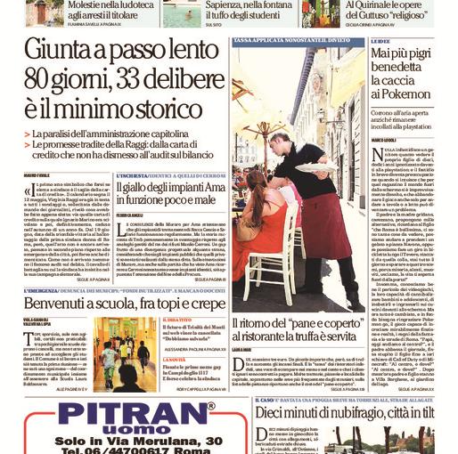Minnie gym in prima pagina su Repubblica Roma
