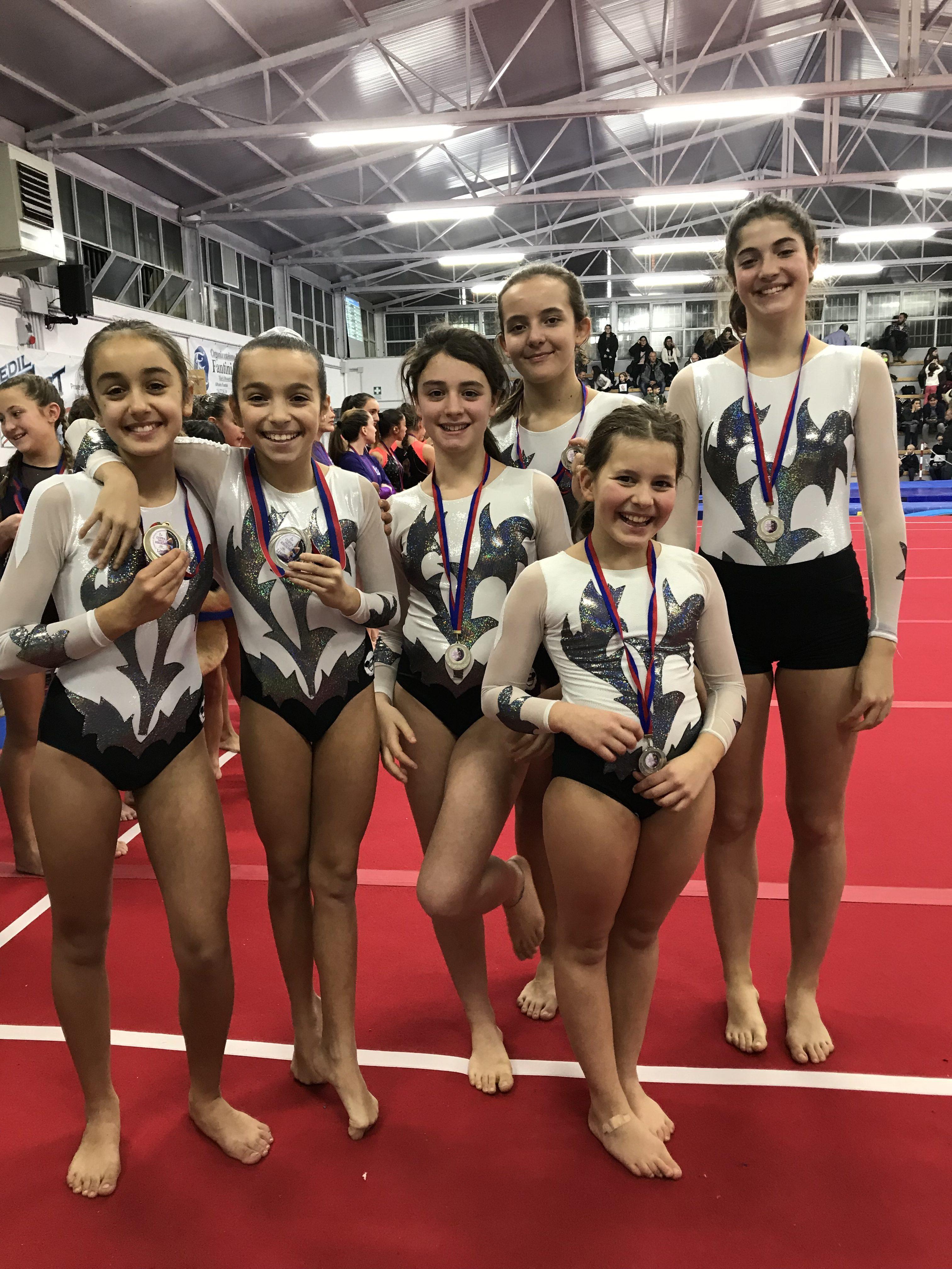 Le ginnaste della categoria Allieve e Junior del Livello B della Minnie Gym alla Coppa delle Regioni