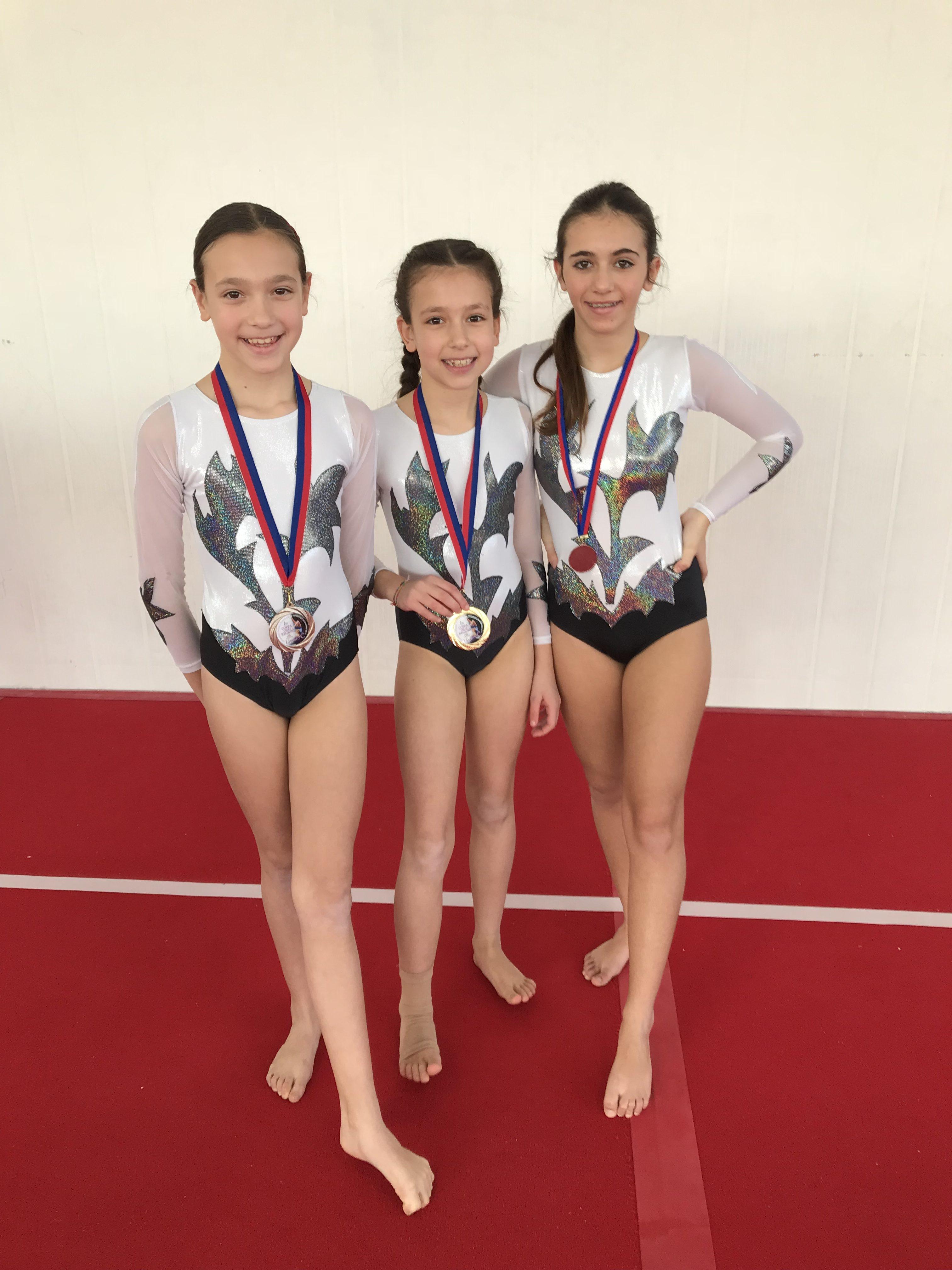 Le ginnaste della categoria Allieve del Livello C della Minnie Gym alla Coppa delle Regioni