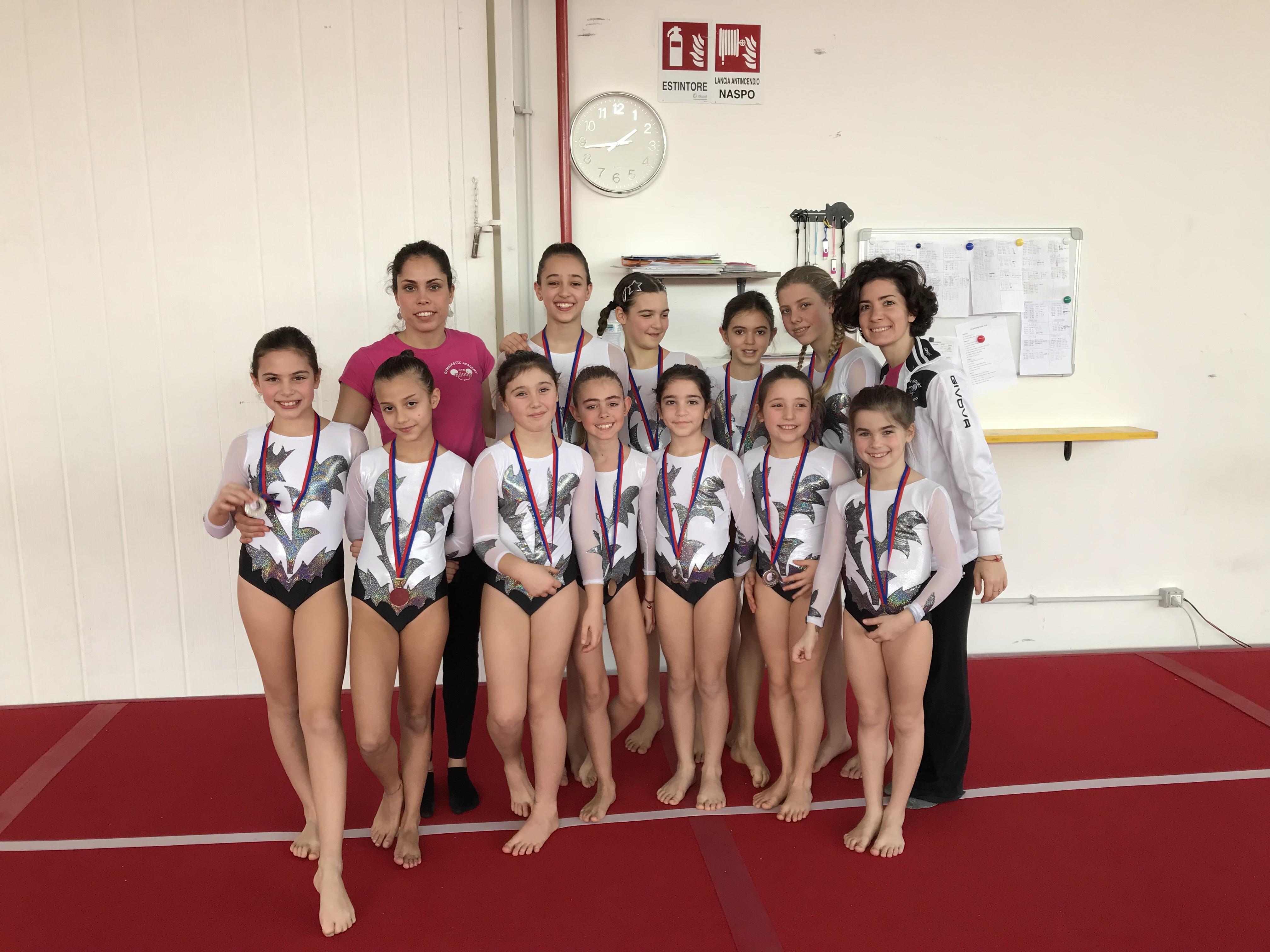 Le ginnaste della categoria Giovanissime e Allieve del Livello C della Minnie Gym alla Coppa delle Regioni