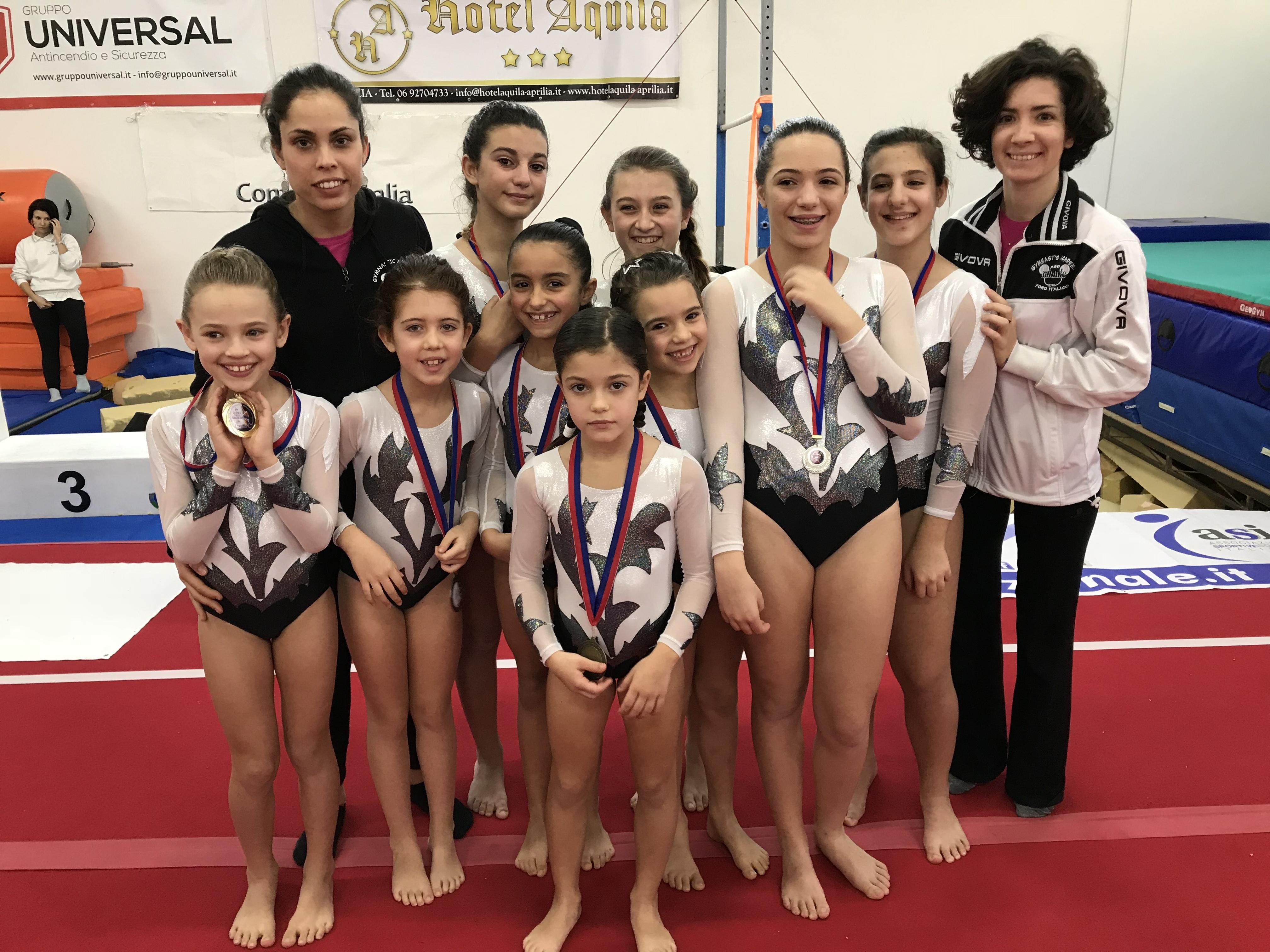 Le ginnaste della categoria Pulcine e Junior del Livello C della Minnie Gym alla Coppa delle Regioni