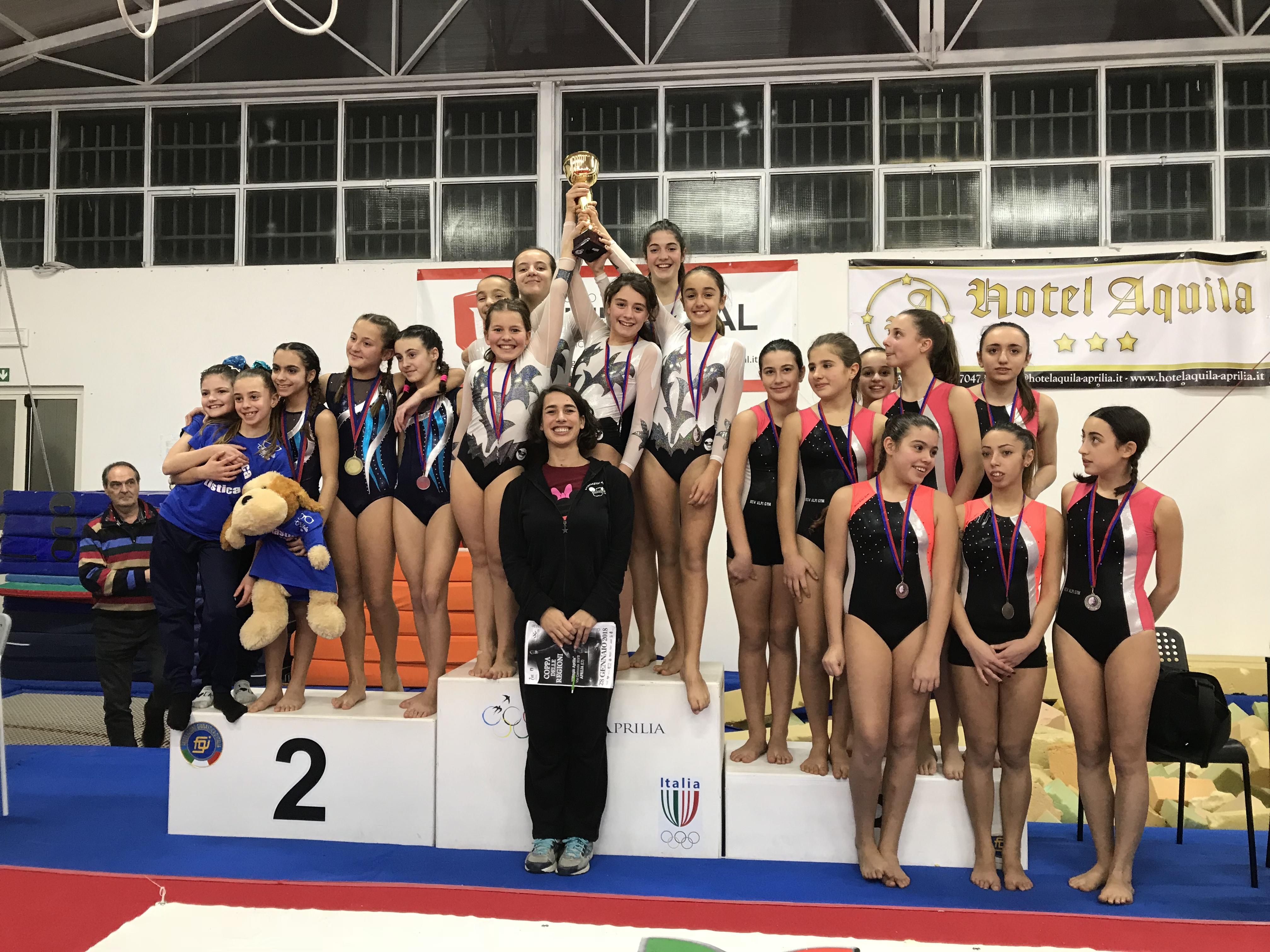 Minnie Gym società campionessa Coppa delle Regioni